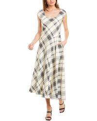 Theory Asymmetric Tango A-line Dress - White