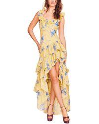LoveShackFancy - Winslow Silk-blend Dress - Lyst