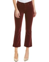 AG Jeans The Jodi Deep Currant Corduroy Flare Crop - Red