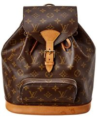 Louis Vuitton Monogram Canvas Montsouris Gm - Brown