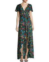 Alice + Olivia Adrianna Floral-print Maxi Dress - Green