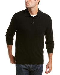 Qi - Cashmere Polo Sweater - Lyst