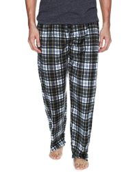 Ben Sherman Plaid Micro Fleece Pyjama Pants - Multicolour