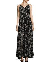 Rebecca Minkoff Floral Drape Dress - Black