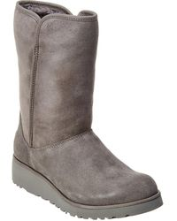 UGG Women's Amie Water-resistant Twinface Sheepskin Suede Boot - Gray