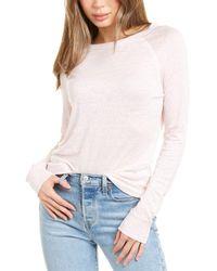 Vince Raglan Linen Sweater - Pink