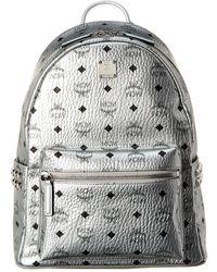 MCM Silver Pvc Backpack - Metallic
