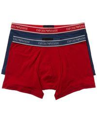 Emporio Armani Set Of 2 Boxer Brief - Red