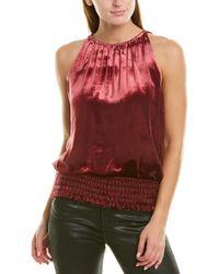 Ramy Brook Velvet Lauren Sleeveless Top - Red