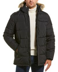 Nautica Quilted Coat - Black