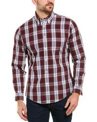 Brooks Brothers Plaid Long Sleeve Regent Fit Shirt - Red