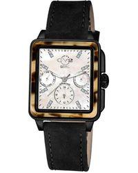Gv2 Bari Tortoise Diamond Watch - Black