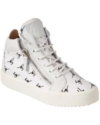 Giuseppe Zanotti Leather High-top Trainer - White