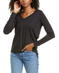 RAFFI Aqua V-neck Sweater - Black