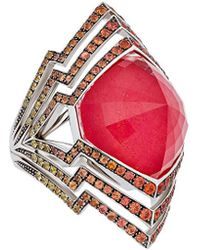 Stephen Webster Lady Stardust 18k 22.26 Ct. Tw. Gemstone Ring - Red