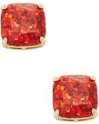 Kate Spade - Glitter Square Stud Earrings - Lyst