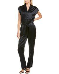 RTA Cynthia Silk Jumpsuit - Black