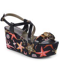 Versace Sea Creature Platform Sandals - Multicolor