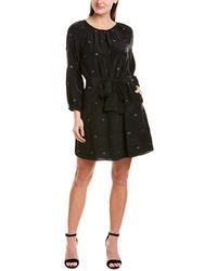 St. Roche Louis Silk Mini Dress - Black