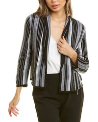 Nine West Vertical Stripe Moto Jacket - Black