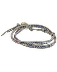 Chan Luu - Silver Gemstone Wrap Bracelet - Lyst