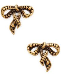 Marc Jacobs - Small New Bow Stud Earrings - Lyst