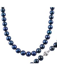 Splendid 14k 9-10mm Pearl Necklace - Blue