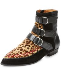 Isabel Marant | Rowi Leather Bootie | Lyst