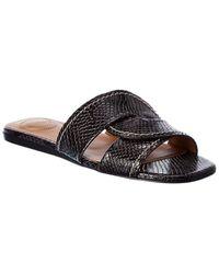 Chloé - Snake-embossed Leather Sandal - Lyst