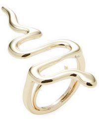 Kenneth Jay Lane - Polished Gold Snake Ring - Lyst