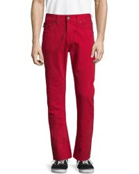 True Religion - Ricky W Flap Straight Fit Jeans - Lyst