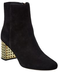 Tory Burch Olympia Suede Bootie - Black