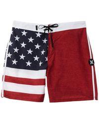 Hurley Phantom Patriot Board Shorts - Red