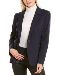 Lafayette 148 New York Trixie Wool Jacket - Blue