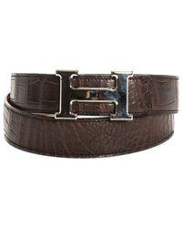 Hermès - Porosus Crocodile Leather Constance Belt, Size 95 - Lyst