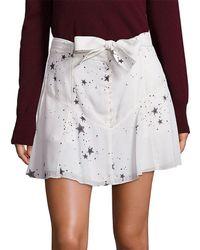 A.L.C. Star Print Silk Skirt - White