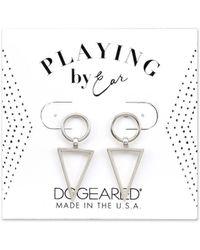 Dogeared - Playing By Ear Silver Earrings - Lyst
