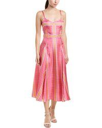 Prabal Gurung - Alicia Silk Midi Dress - Lyst