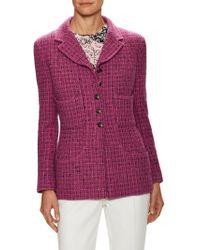 Chanel Vintage Tweed Wool Jacket - Purple