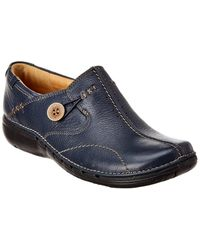 Clarks Unstructured Un Loop Leather Slip-on - Blue