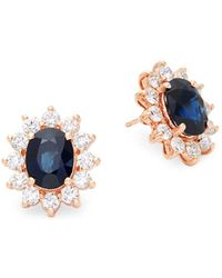 Effy - Diamond, Sapphire & 14k Rose Gold Statement Earrings - Lyst