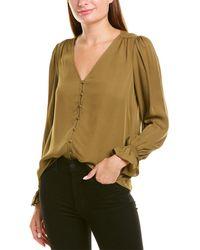 Joie Bolona Silk Top - Green