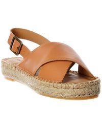 Soludos - Eloise Leather Espadrille Sandal - Lyst