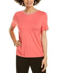 St. John Rhinestone-trim T-shirt - Red