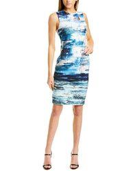 Yigal Azrouël Scuba Sheath Dress - Blue