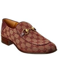 Gucci - GG Leather-trim Horsebit Loafer - Lyst