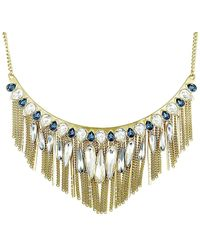 Swarovski Crystal Plated Necklace - Metallic