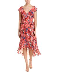 Parker Annabel Silk-blend Maxi Dress - Red
