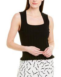 Diane von Furstenberg Adis Ribbed Knit Tank - Black