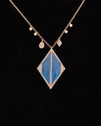 Meira T - 14k & Silver 10.07 Ct. Tw. Diamond & Chalcedony Necklace - Lyst